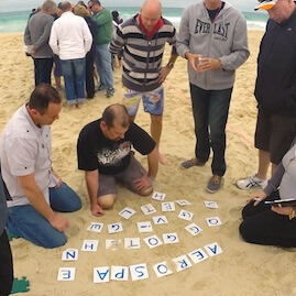 Beach Amazing Race Sand Puzzle Corporate Team Building