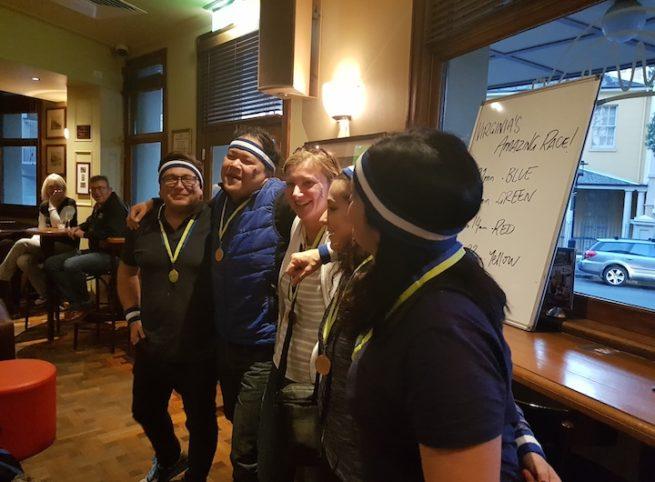 Virginia's Birthday Amazing Race Social Event Winning Team