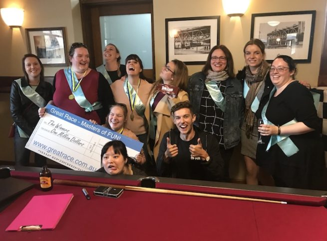 Hens Party Amazing Race with Bars Winners Medal Ceremony