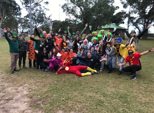 Corporate Group for team building costume teams