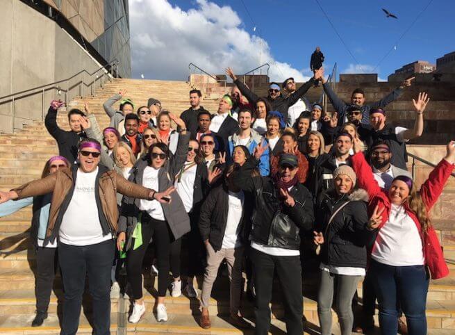 Team Building Custom Amazing Race Fed Square Group Photo