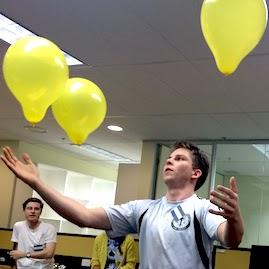 Minute To Win It Balloon Juggle Indoor Team Bonding Game