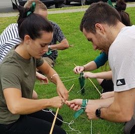Classic Amazing Race Construction Challenge Team Building Twig Towers