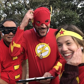 Super Hero Costumes The Flash Wonder Woman Corporate Team building