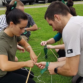 Twig Towers Team Building Construction Challenge Bamboo Twine String