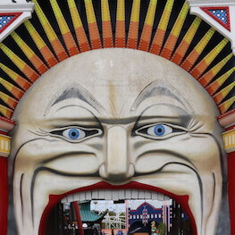Luna Park Face Melbourne Great Race Australia