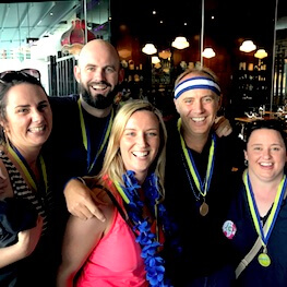 Great Race Group Photo Medal Ceremony Team Building Activities