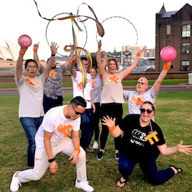 Custom Amazing Race Interpretive Dance Challenge Celebration Group Photo