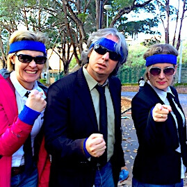 Corporate Team Building Events Opening Challenge Blues Brothers Blue Headband