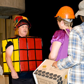 Play In A Day Jester Hat Rubiks Cube Costume